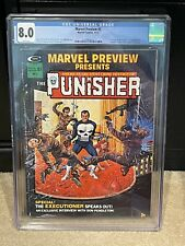 Marvel Preview #2 CGC 8.0 White Pages!  1st Origin Of The Punisher!