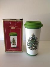 Spode Christmas Tree TRAVEL MUG with SILICONE LID 440ML, 15 oz. New In Box