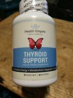 HEALTH EMPIRE Thyroid Support 60 Veggie Caps Non-GMO EXP 8/21