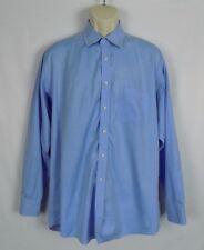 Saks Fifth Avenue Dress Shirt Size 16 1/2 34 / 35 Light Blue Long Sleeves Cotton