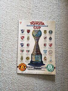 Toyota Cup 1999 (Manchester United vs. Palmeiras) Program