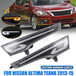LED DRL Daytime Running Light Lamps For Nissan Teana Altima 2013-2015 Left&Right