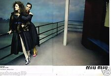 Publicité Advertising 2013 (2 pages) Haute Couture Miu Miu Lima et Di Donato