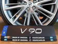 """Volvo Kennzeichenhalter """"Made by Sweden"""" / Volvocars.de  (1Set=2 Stück)"""