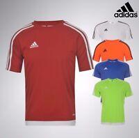 Boys Adidas High Quality Climalite Top 3 Stripe Estro T Shirt Age 7-13 Yrs