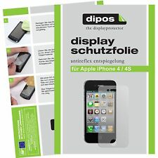 5x dipos Apple iPhone 4 / 4S Protector de Pantalla protectores mate