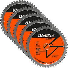 Wellcut TCT Lame Scie 216 mm x 48 T X 30 mm alésage pour GCM800, GCM8SJL Pack de 5