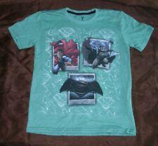 Justice League Batman Boys Short Sleeve T-shirt Green Tee Size 7 New