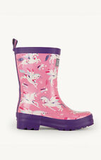 Hatley Wellies Design Rainbow Unicorns Rain BOOTS UK 6 Infant
