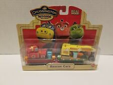Chuggington Wooden Railway RESCUE CARS - Works w/ Thomas, Brio - New