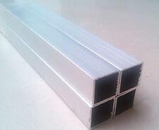2pcs ALUMINIUM SQUARE TUBE / BOX 25mm x 25mm x 2mm 500mm LONG