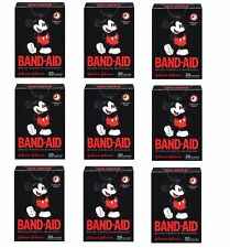 9 Boxes Mickey Mouse Band-Aids 180 Adhesive Bandages Assorted Collectors Series