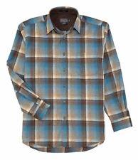 Pendleton Lodge Men's Pure Virgin Wool Blue Brown Plaids Casual Shirt XL NWT NEW