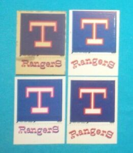 RARE 1977 - 1979 Fleer TEXAS RangerS T Cap RangerS Uniform real cloth & HI-GLOSS