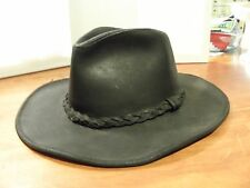 Wilsons Leather Mens Cowboy Leather Hat W/ Braid
