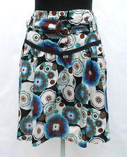 Jupe sous genoux PROMOD T 36 S 1 Fleuri Doublé 100% coton Skirt Rock falda TBE