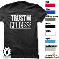 TRUST THE PROCESS T-Shirt Workout Gym BodyBuilding MMA Fitness Motivation c604