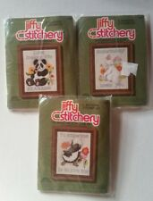 3 Jiffy Stitchery Kits To know Me Is To Love Me, Some Bunny Loves&Love Makes NEW