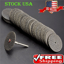 "100pcs 1/8"" Mandrel Fiberglass Reinforced Dremel Cut Off Wheel Rotary Discs Saw"