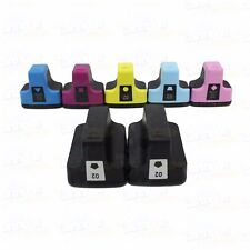 7 pack HP 02 High-Yield Ink Cartridges With Chip for PhotoSmart C6180 C6280