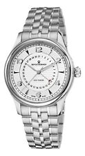 Revue Thommen Men's Date Pointer Silver Face Steel Automatic Watch 10012.2132