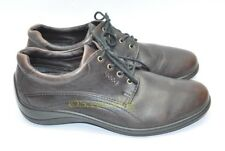 Womens ECCO Lace Up Shoes Size 39 EU 8 - 8.5 US Brown Leather Excellent