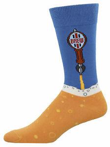 NEW Mens Fun Novelty Socks Beer on Tap - Sock Size 10-13