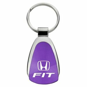 Honda Fit Key Ring Purple Teardrop Keychain