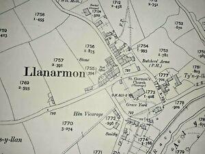 Old Antique Ordnance Map 1912 Denbighshire XX.10 Llanarmon-yn-Ial ...