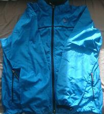 Mike Air Waterproof Foldable Packable Blue Nylon Zip Jacket Size L