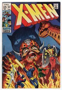 X-MEN 51  Glossy Fine+ 1968   Classic Steranko!   Magneto, Polaris, Erik the Red