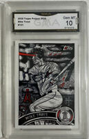 Topps PROJECT 2020 Card 121 2011 Mike Trout JK5 GMA 10 Mint Not Psa VERY LOW POP