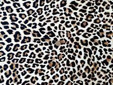 Top Quality 100% Cotton Poplin Fabric - Leopard Print - 1 Full Metre -150cm Wide