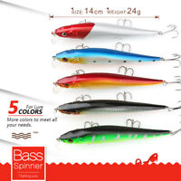 3D Eyes Fishing Lure Minnow Hard Bait with 3 Fishing Hooks Fishing Tackle Lure