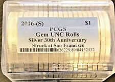 2016 (S) 1 oz Silver American Eagle $1 PCGS ROLL GEM UNC  Struck at San Fran