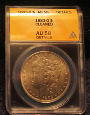 1883-O Morgan Silver Dollar ANACS AU 58 Details Cleaned