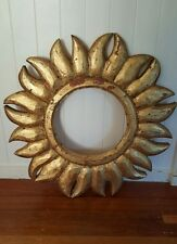 HAND MADE GOLD LEAF SUN MIRROR FRAME - MEXICAN IMPORT.