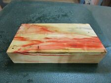 FF- FLAME BOX ELDER BURL  DELUXE KNIFE BLOCK/SCALES/ CALLS/ PEN BLANKS--F--C--2
