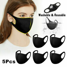 5Pcs Washable Breathable Anti-dust Haze Safety Mouth Face 3D Cover Face Fabric