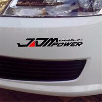 JDM POWER Car Sticker Bumper Decal Vinyl Car Reflective Sticker Window Decor Hot