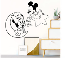 Cartoon Disney Mickey Minnie Mouse Wall Stickers For Home Decoration Living Room