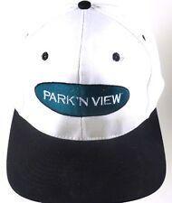 Park'n View Cable Trucker TV Phone Service Snapback Cap Hat White Black