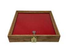 Oak Wood Display Case 12 X 12 X 2 For Arrowheads Knifes Collectibles Amp More