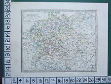 MAPPA storica + testo ~ Germania ~ durante TRENT'ANNI DI GUERRA STATO politico