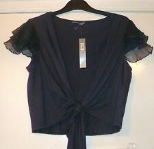 PER UNA GREY LADIES TOP-BOLERO,SIZE UK 12-EU 42,BRAND NEW WITH TAGS