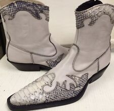 Destroy Men's gray  Python  Made in Spain 06346 Ankle Boots EU 42  US 9 D NEW