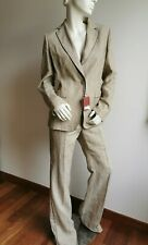 RRP €960🌟MAX MARA Blazer+Pants SUIT FLAXLINEN&RAMIE  USA6_ IT40_D36_ GB8_FR38