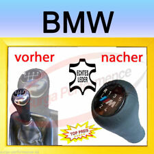BMW Pomello a siringa copertura in vera pelle e30 e34 e36 e38 e39 e46 316 318 320 325 330