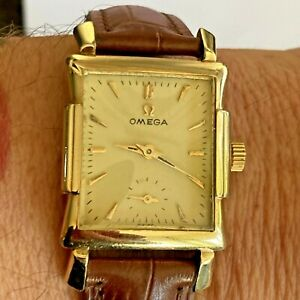 VINTAGE ART DECO OMEGA WATCH - FANCY 14ct GOLD FILLED CASE - GWO - EX CONDITION