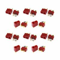 10Pairs Dean Ultra T Style Plug Connector Heat shrink for RC LiPo Battery